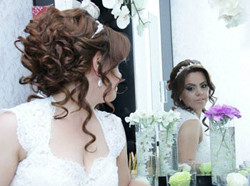 Wedding and evening hairstyles